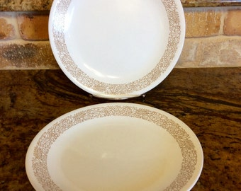 Vintage Corelle Woodland Brown Luncheon/Salad/Desert/ Plates by Corning,( only 1 left )