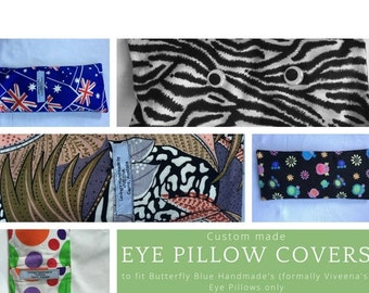 Eye pillow cover only - custom made - spare covers, relaxation, yoga pillow,