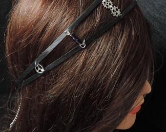 Inspiration steampunk leather headband