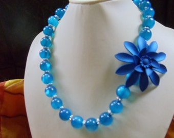 Regine statement necklace Royal Blue