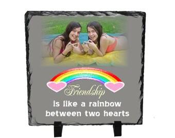 Friendship gift, Best friend gift, Photo Slate, Personalized friend gift, Photo gifts