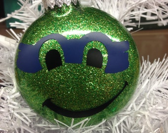 Holiday Christmas Tree Ornament Teenage Mutant Ninja Turtle Leonardo Blue