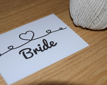 Tie the Knot Placecard A7