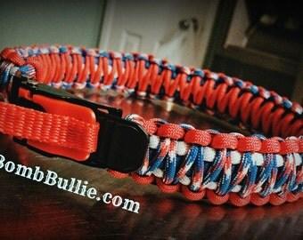 Adjustable King Cobra Paracord Dog Collar