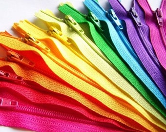100 YKK Nylon Zippers 12 Inches Coil #3 Closed Bottom Assorted Colors (100 zippers)