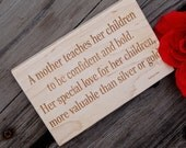 Engraved Wooden Wall Art, Gift For Mother, Engraved Gift For Mom