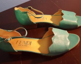 Turquoise Fendi Sandals - Size 38