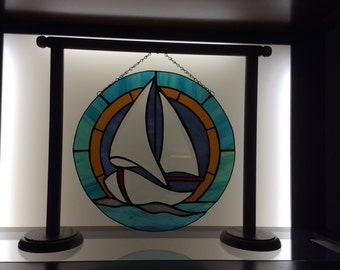 Stained Glass Panel Stand