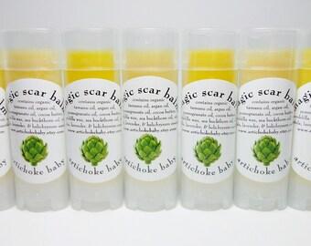 organic magic scar balm, fade lighten moisturize heal scars, non GMO