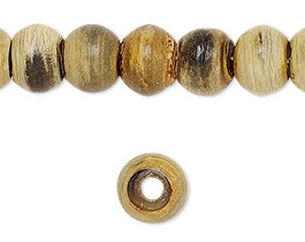 Horn Bead, Natural Horn Drum, Rustic, Primitive, 10x8mm, 10 each, D721