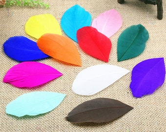 usd29.99 100pcs hand crafted goose feather plume many color availble # PF16007