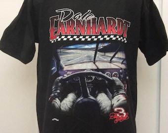 Vtg Early 90s Dale Earnhardt T-Shirt Black XL NASCAR Nutmeg