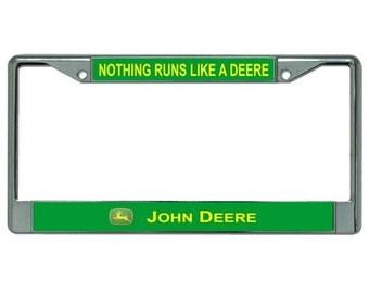 JOHN DEERE Nothing Runs Like a Deere Photo License Plate Frame - LPO2362