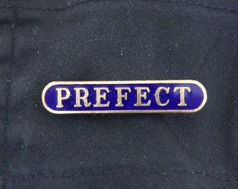 Vintage Prefect Metal Badge Pin