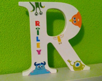 Custom Personalized Monsters inc Letter wall decor