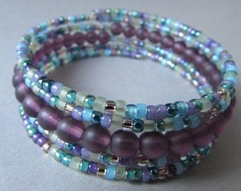 Multicolor Memory Wire Bracelet