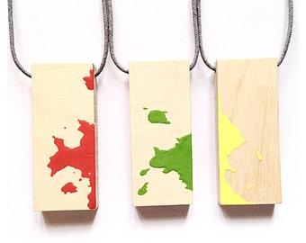 Splash Plywood Necklace