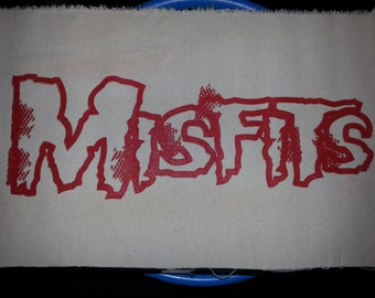 """Big Red Misfits Patch*(NEW)*(Misfits Logo Size:5""""In (L) x (13""""In (W)***Free Fast Shipping With Tracking Number*(See Details)"""