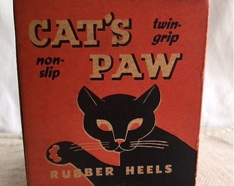 Old Cat's Paw Advertsing Box