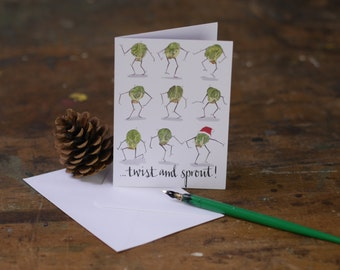 Twist and Sprout! Christmas Card