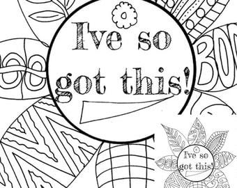 Self esteem coloring | Etsy