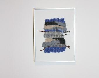 Framed wall weaving Armance