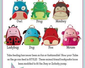 Backpacks Modified for Feeding Tubes AdoraBackpacks