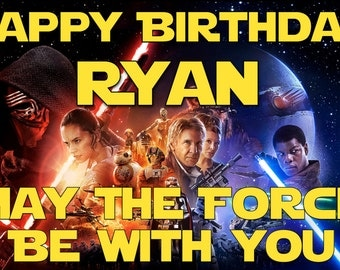 Star Wars Inspired Birthday Banner - Personalized with your child's name