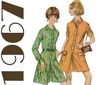 Culotte Dress Pant Dress 1960s Scooter Dress SIMPLICITY 7244 sz 12 b 32 Mod Dress Pattern Summer Dress Teen Dress 1960s Jumpsuit Shirt Dress