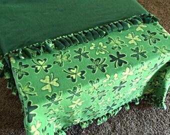 St. Patrick's Day Shamrock Fleece Blanket