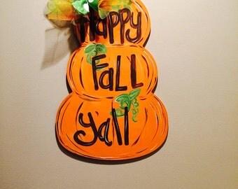 Fall Door Hanger. Autumn door hanger. Fall Decor. Stacked Pumpkin Door Hanger. Fall Door. Pumpkin Door Hanger
