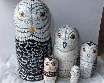 Russian doll Matryoshka Owls
