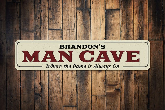 Gamer Man Cave Signs : Game always on sign personalized man cave name custom