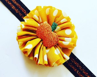Halloween Headband, Pumpkin Headband, Fall headband, Baby headband, Halloween Baby Headband, Baby Girl headband, Baby Bow, Halloween bow