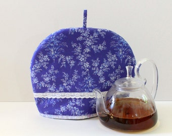 Floral Tea Cozy, Large cotton Tea warmer with insulation. Handmade Tea pot cozy, is an excellent gift for tea lovers.