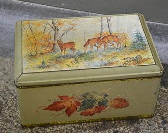 Vintage tin, deer