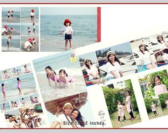 12x12 Travel times template - vol.1  (travel, photobook, album, wedding, baby, family, template, photoshop)