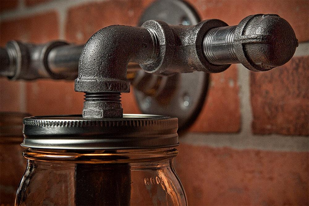 Mason Jar Light Fixture Industrial Light Rustic Light Vanity Light Wall Light Wall