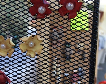 Paper flower earrings-earrings paper flowers, paper