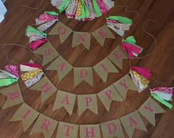 First birthday banner set