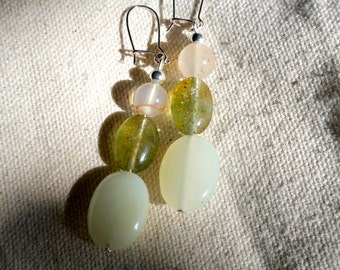 Aventurine and Carnelian Earrings