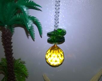 Pineapple ~ crystal suncatcher