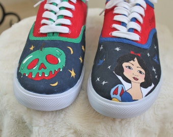 Hand-Painted Snow White/Poison Apple Sneakers