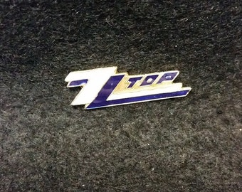 Vintage ZZ Top Metal And Enamel Pin