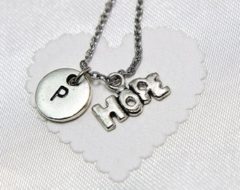 Personalized Hope Necklace | Initial Necklace | Infertility Necklace | Hope Charm | Initial Charm | Monogram