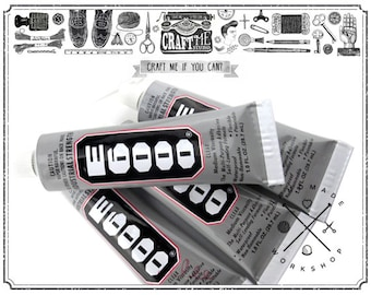 1 TUBE E6000 Big Size  Adhesive Glue Industrial Strength Craft 3.7oz (110ml)