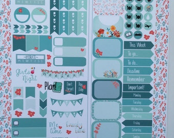 Spring Tulips Personal Planner Sticker Kit: