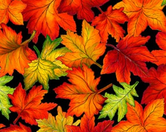 Fall Fabric, Fall Reflections, autumn leaves, by Exclusively Quilters