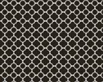 French Country Roosters, Chicken wire fabric, Black Background by Red Rooster Fabrics, 25528