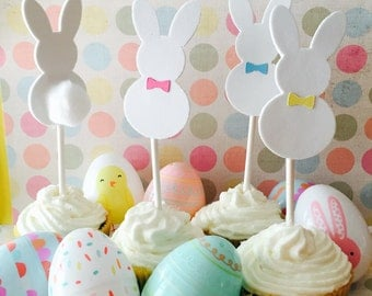 Easter Bunny, Cotton Tail, Easter Cupcake Toppers